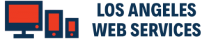 los angeles web services logo blue bold
