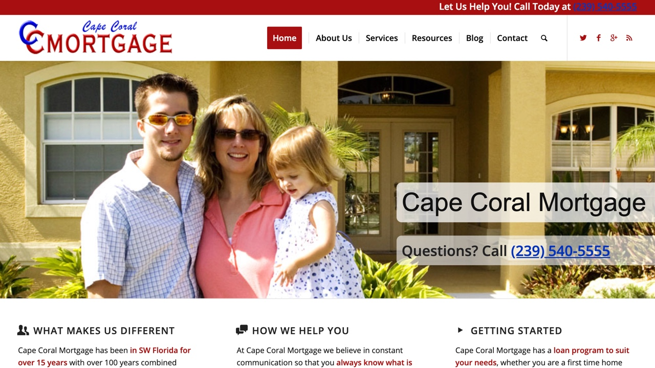 mortgage broker website designed by pinpoint local los angeles web services